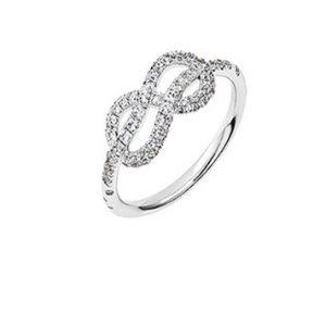 Atelier Swarovski Knot of True Love Mini Pave Ring