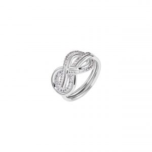 Atelier Swarovski Knot of True Love Interlaced Pave Ring